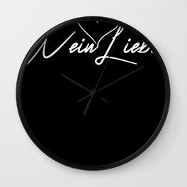 Wein Liebe red wine glass Sekt Prost Wall Clock