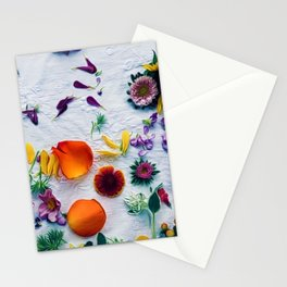 Bouquet of Petals and Flowers Still Life Stationery Cards