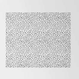 Black and White Spots Throw Blanket