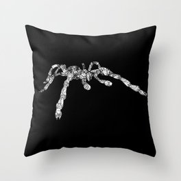 Scuttle Tarantula Spider Grunge Vintage Line Art Throw Pillow