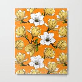 Magnolia garden in yellow    Metal Print