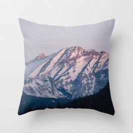 Golden Hour in the Rockies Throw Pillow