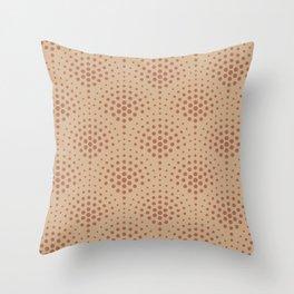 Cavern Clay SW 7701 Polka Dot Scallop Fan Pattern on Ligonier Tan SW 7717 Throw Pillow