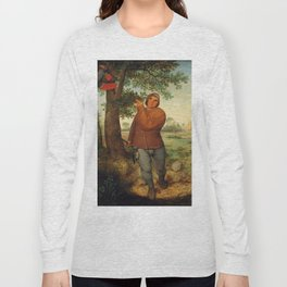 "Pieter Bruegel (also Brueghel or Breughel) the Elder ""The Peasant and the Nest Robber"" Long Sleeve T-shirt"
