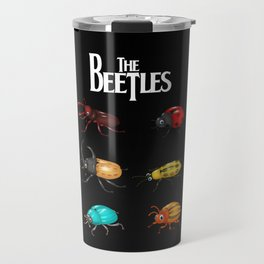 The Beetles, a parody with one of the biggest rock bands of all time. Travel Mug