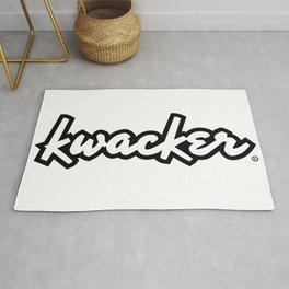 kwacker logotype Rug