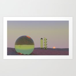 Galactic desert  Art Print
