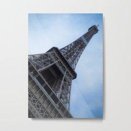 France, Paris, Eifel Tower, Color, iPhone, Diagonal, Black and White Metal Print