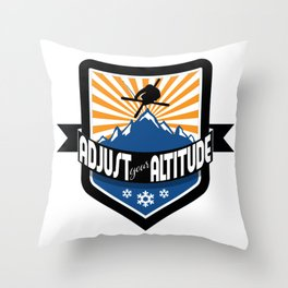Adjust Your Altitude | Ski Series | DopeyArt Throw Pillow
