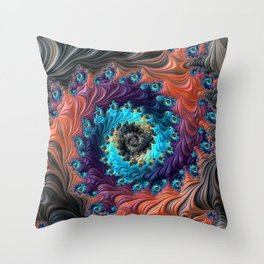 Grand Spiral fractal by Amanda Martinson Throw Pillow