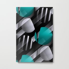 3D - abstraction -112- Metal Print