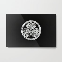 Tokugawa Clan · White Mon · Distressed Metal Print