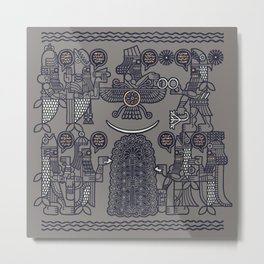 The Seven Fish Demigods of Eridu Metal Print