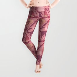 Witch Supplies in Dusty Rose Leggings
