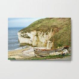 Flamborough North Landing Metal Print