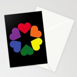 LGBT pride hearts Stationery Cards