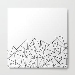Ab Peaks White Metal Print