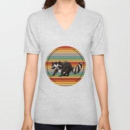 Raccoon Colorful Unisex V-Neck