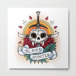 Bloodhunter - Vintage D&D Tattoo Metal Print