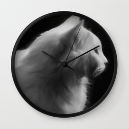 Cat 2 #painting Wall Clock
