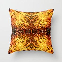 Pumpkin Pearl Sea Fan by Chris Sparks Throw Pillow