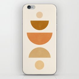 Abstraction_Geometric_Shape_Moon_Sun_Minimalism_001D iPhone Skin