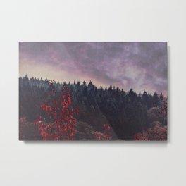 A Dream Away - Autumn Forest Evening Metal Print