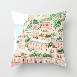 An Italian Shore Throw Pillow