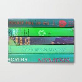 Agatha in Green Metal Print