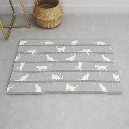 Cats Pattern (Grey) Rug
