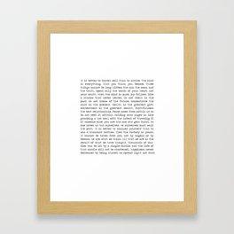The Wisdom of Buddha Gerahmter Kunstdruck