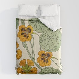 Maurice Verneuil - Capucine - botanical poster Comforters