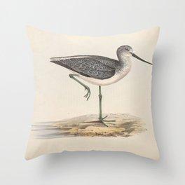GREEN SHANK Throw Pillow