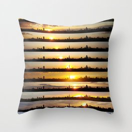 London Sunsets 001: Science Throw Pillow