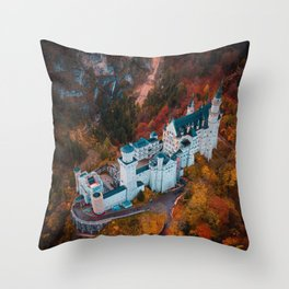 Neuschwanstein Castle in Schwangau, Germany Throw Pillow