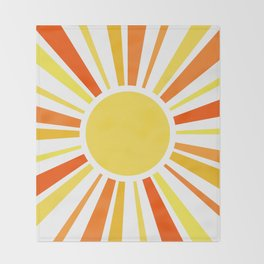 Let the sunshine in Throw Blanket