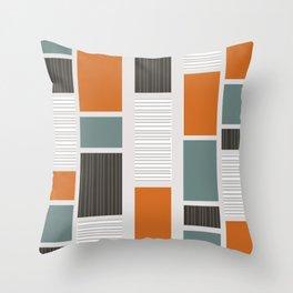 Mid Century Modern Panels Throw Pillow
