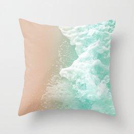 Soft Emerald Beige Ocean Beauty #1 #wall #decor #art #society6 Throw Pillow