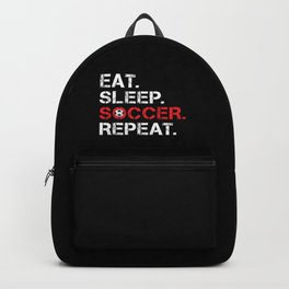 Eat. Sleep. Soccer. Repeat Backpack