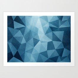Blue Poly Art Print