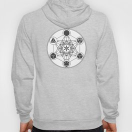 Metatron's Cube with Platonic Solids and Seed of Life Hoody
