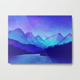 Cerulean Blue Mountains Metal Print