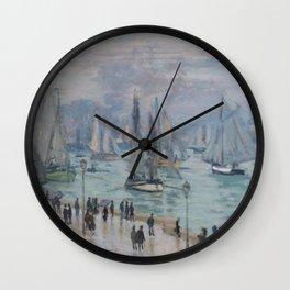 Claude Monet - Le Havre, Fishing Boats Leaving the Harbor.jpg Wall Clock