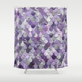 Mermaid Purple and Silver Shower Curtain