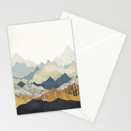 Distant Peaks Stationery Cards