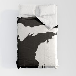 Michigan Home State Map Gifts Comforters