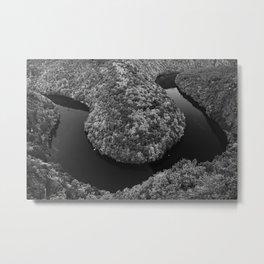 Czech landscape with meander of river Vltava Metal Print