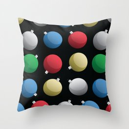 Christmas Ornaments Pattern Throw Pillow