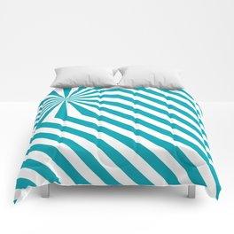 Stripes explosion - Blue Comforters