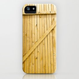 new wooden gates iPhone Case